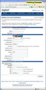 Phishing - Credit Card Information